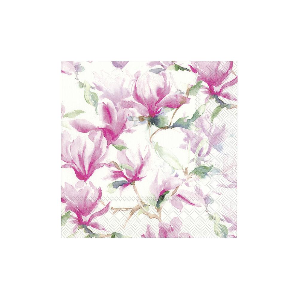 IHR papírszalvéta csomag 33x33cm Magnolia Poesie fehér