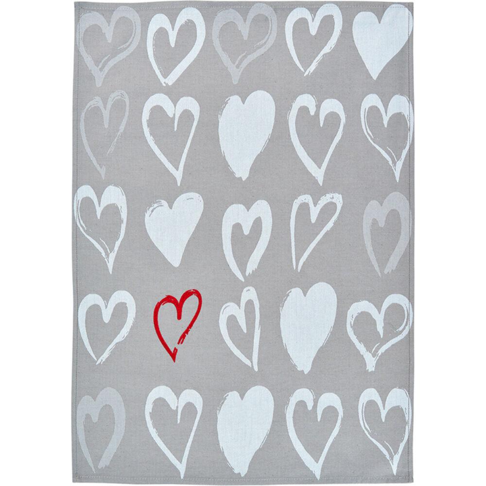 Sander konyharuha HEARTS 50x70cm FB21 ezüst