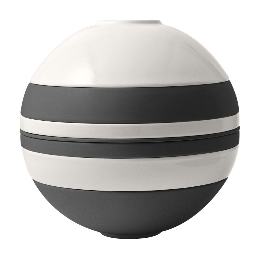 V&B Iconic La Boule gömb alakú étkészlet fekete-fehér