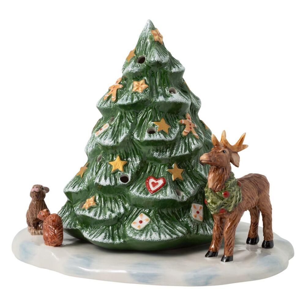 V&B Christmas Toys mécsestartó, Karácsonyfa erdei állatokkal