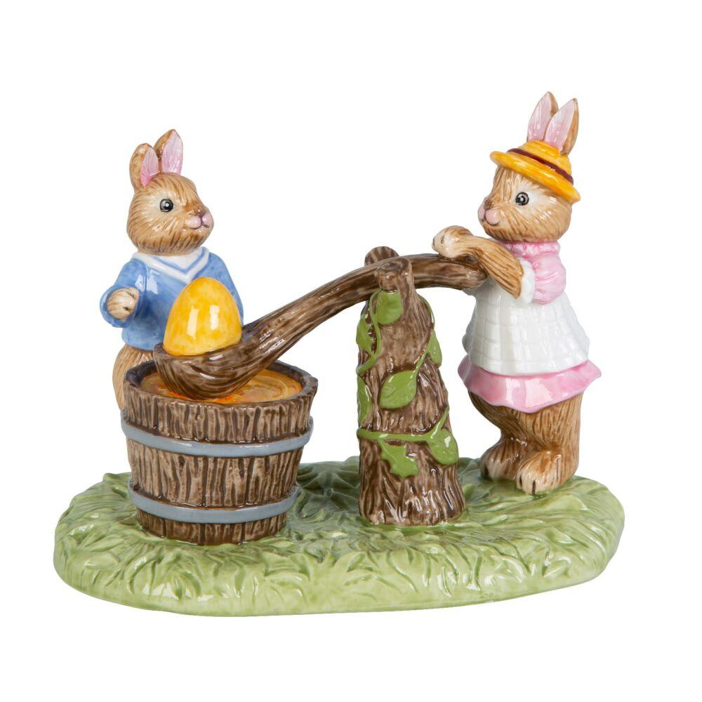 V&B Bunny Tales jelenet tojásfestés 13,5x9x10,5cm