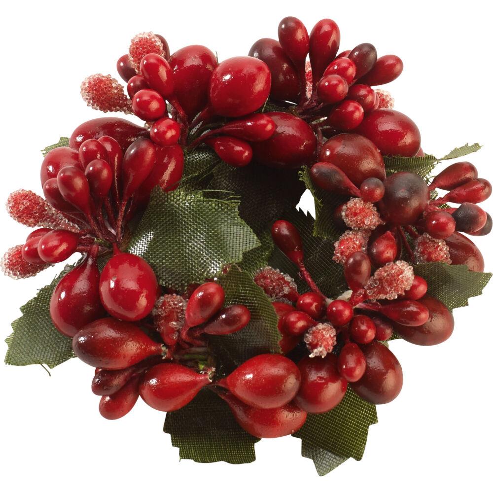 V&B Winter Collage Accessories szalvétagyűrű bogyókkal piros