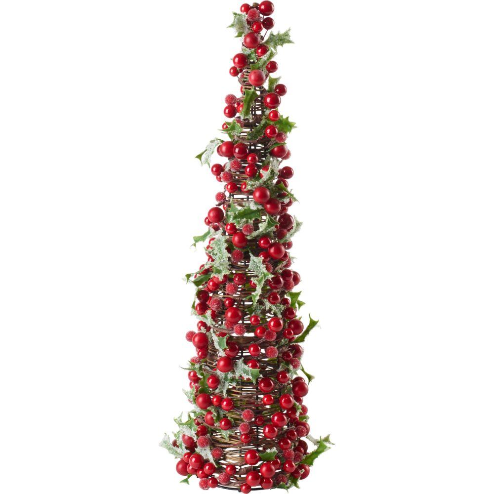 V&B Winter Collage Accessories karácsonyi kúp 46cm, Piros bogyók