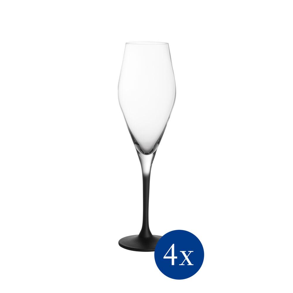 V&B Manufacture Rock Glass pohár szett 4részes pezsgős