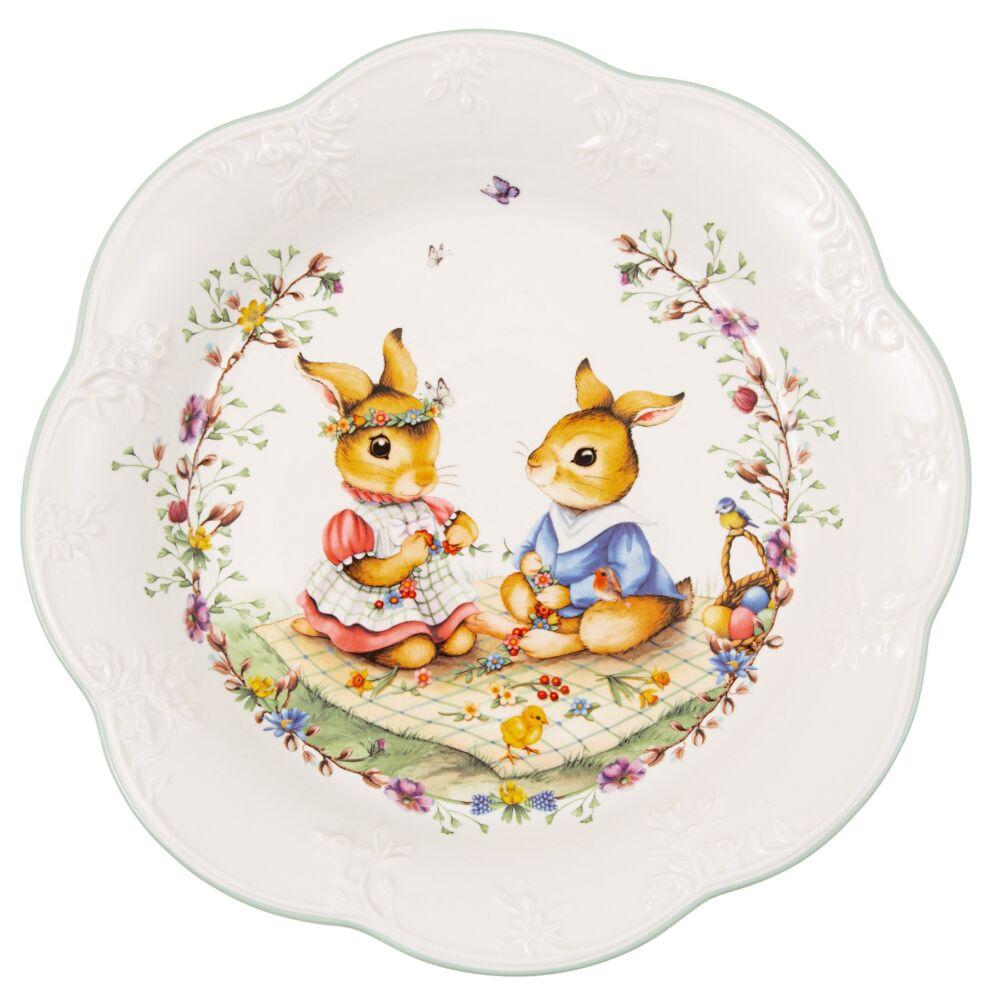 V&B Spring Fantasy süteményes tál 24cm, Nyuszi piknik