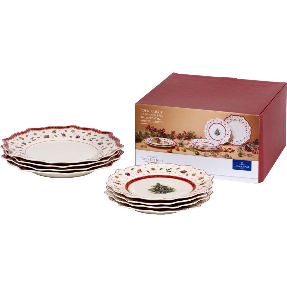 V&B Toy's Delight tányér szett 8részes 4személyes fehér