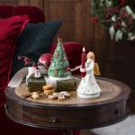 V&B Nostalgic Melody zenélő doboz forgó, Karácsonyfa mézeskalács díszekkel