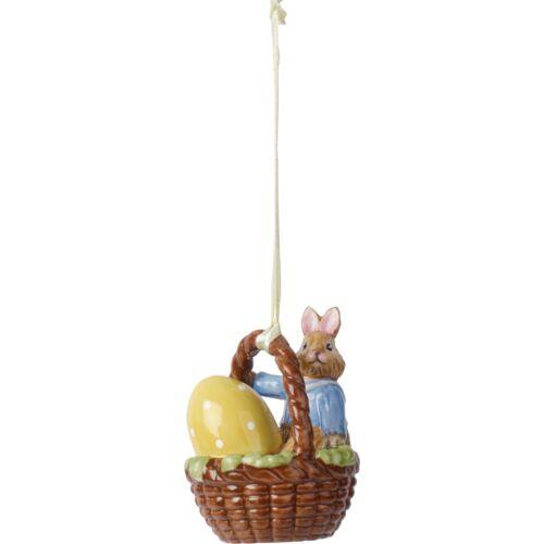 V&B Bunny Tales függő dísz nyuszi kosárban 6cm, Max
