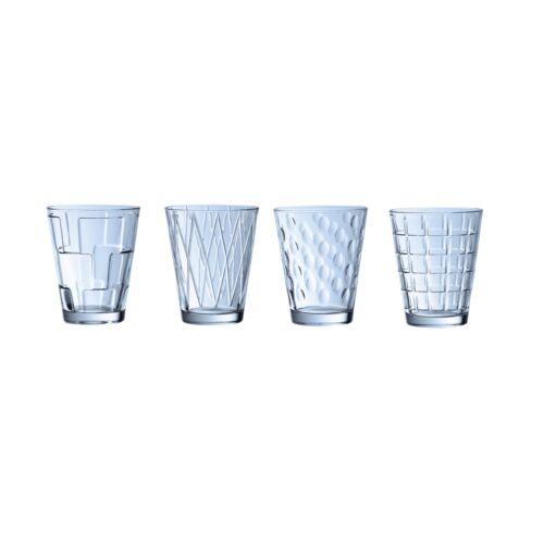 V&B Dressed Up pohár szett 4részes kék