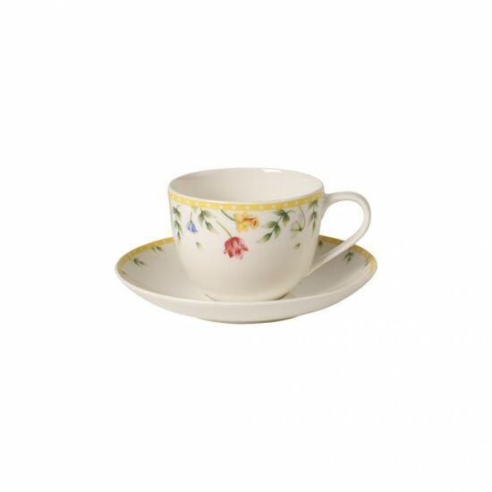 V&B Spring Awakening kávés csésze alátéttel, Tavaszi virágok