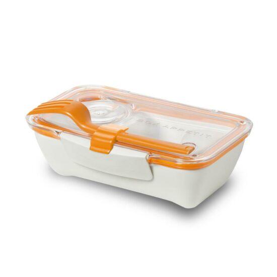 BB Bento Box ételhordó doboz evőeszközzel narancs