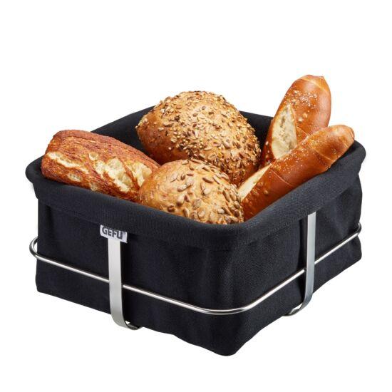 GEFU Brunch kenyérkosár 21,9x21,9cm fekete