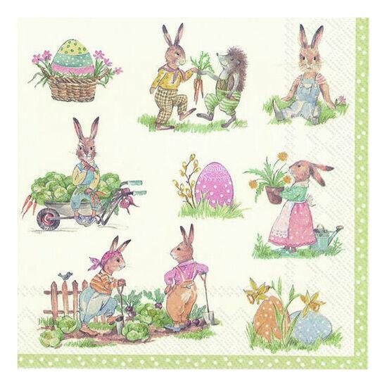 IHR papírszalvéta csomag 33x33cm Stories of Bunnies