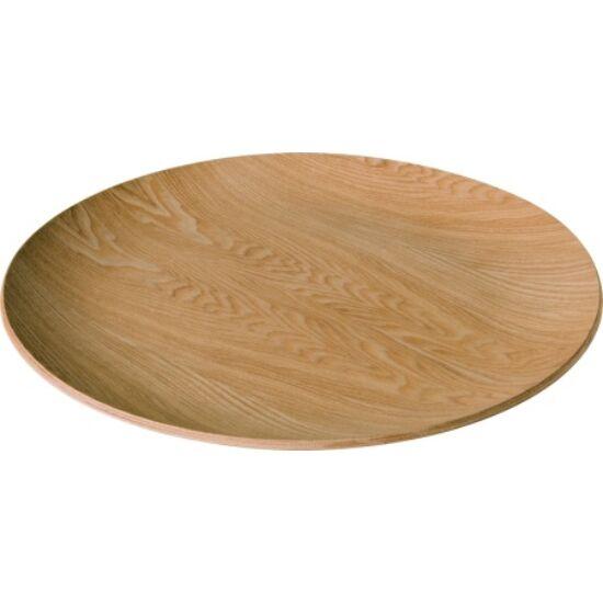 IHR Wooden Plate kerek tálca, natúr