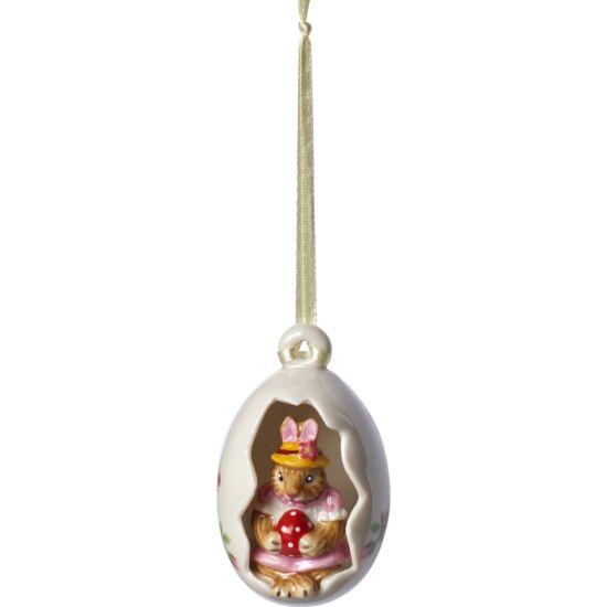 V&B Bunny Tales függő dísz tojás 7cm, Anna