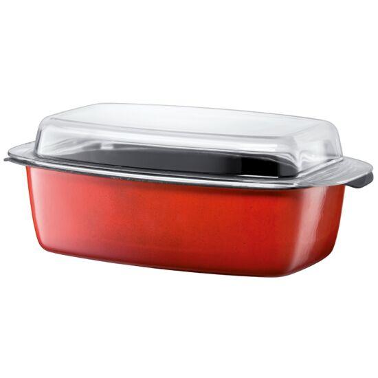 Silit Energy Red sütőedény üveg fedővel 39*15*22cm