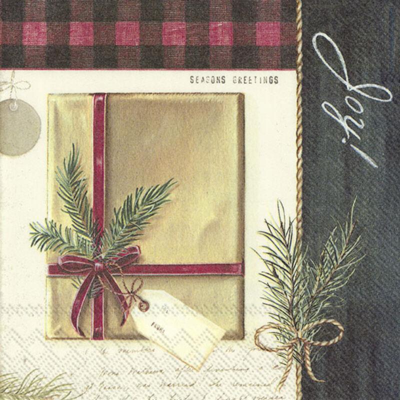 IHR papírszalvéta csomag 33x33cm Holiday Wrapping