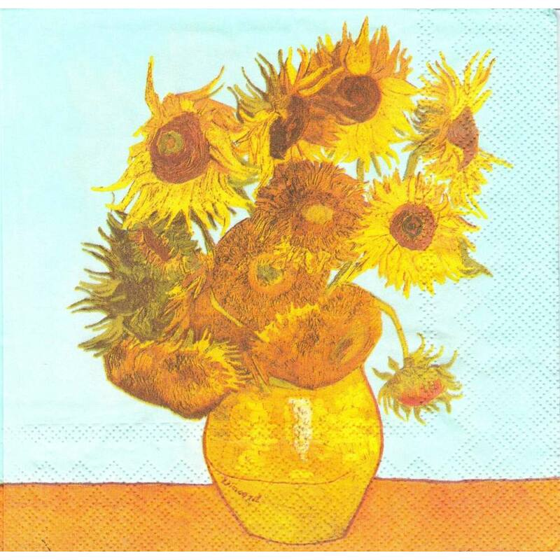 IHR papírszalvéta csomag 33x33cm Van Gogh, Napraforgók
