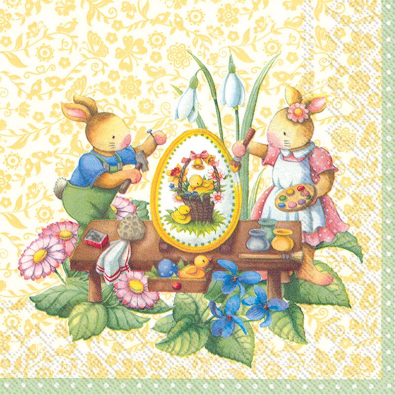 IHR papírszalvéta csomag 33x33cm Easter Spring Fantasy