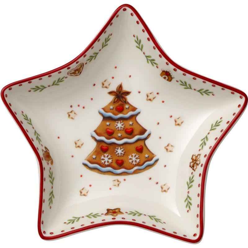 V&B Winter Bakery Delight csillag alakú cukorkás tálka, Mézeskalács karácsonyfa