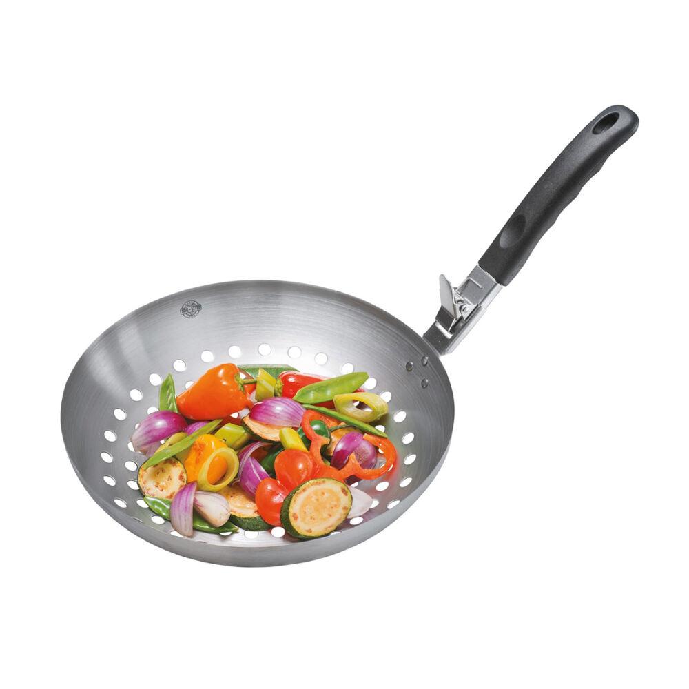 GEFU BBQ zöldség wok 28cm