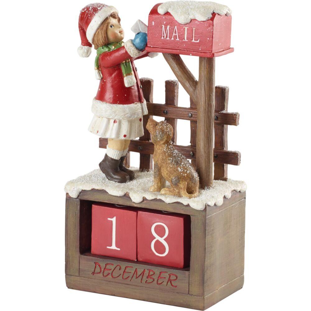 V&B Winter Collage Accessories kalendárium, Kislány kutyával