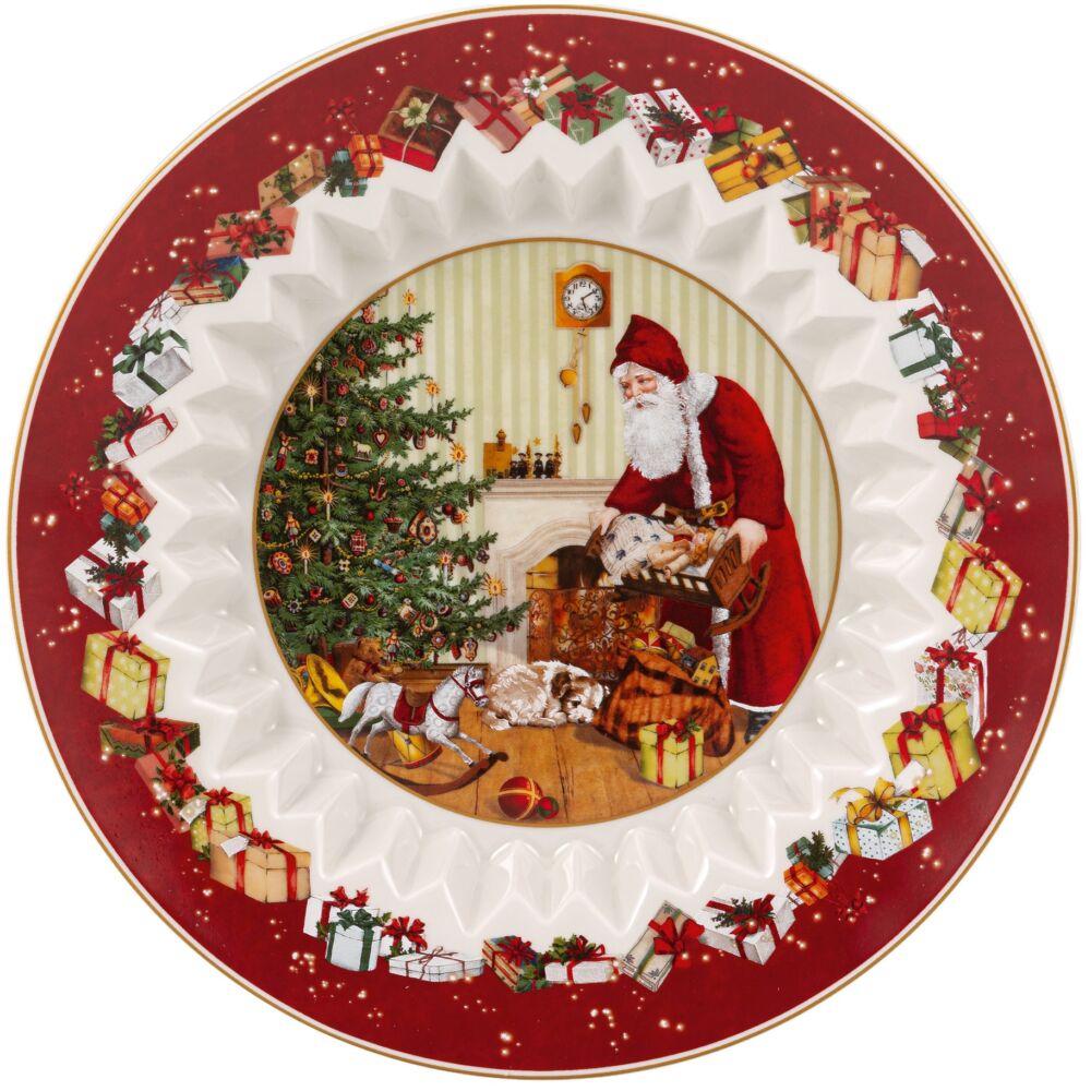 V&B Toy's Fantasy süteményes tál, Télapó a karácsonyfánál