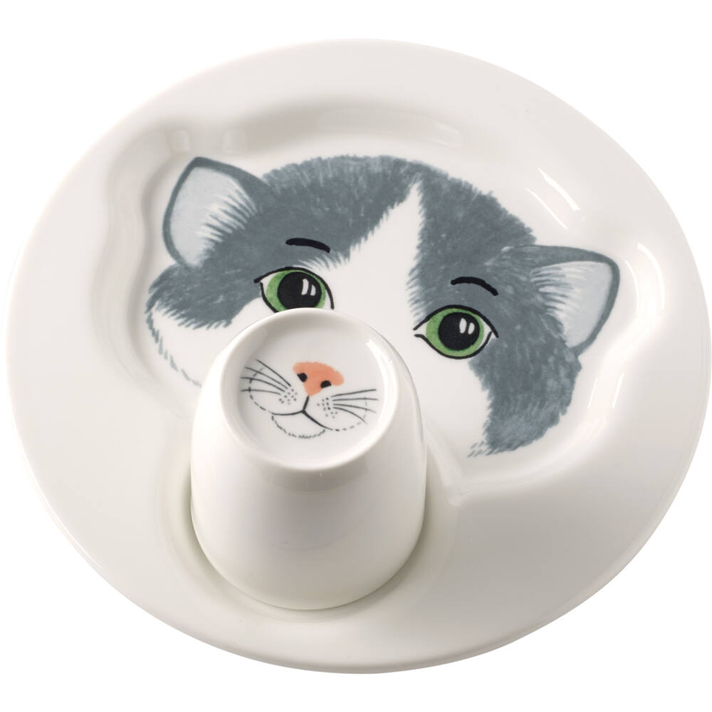 V&B Animal Friends tányér bögérvel, cica