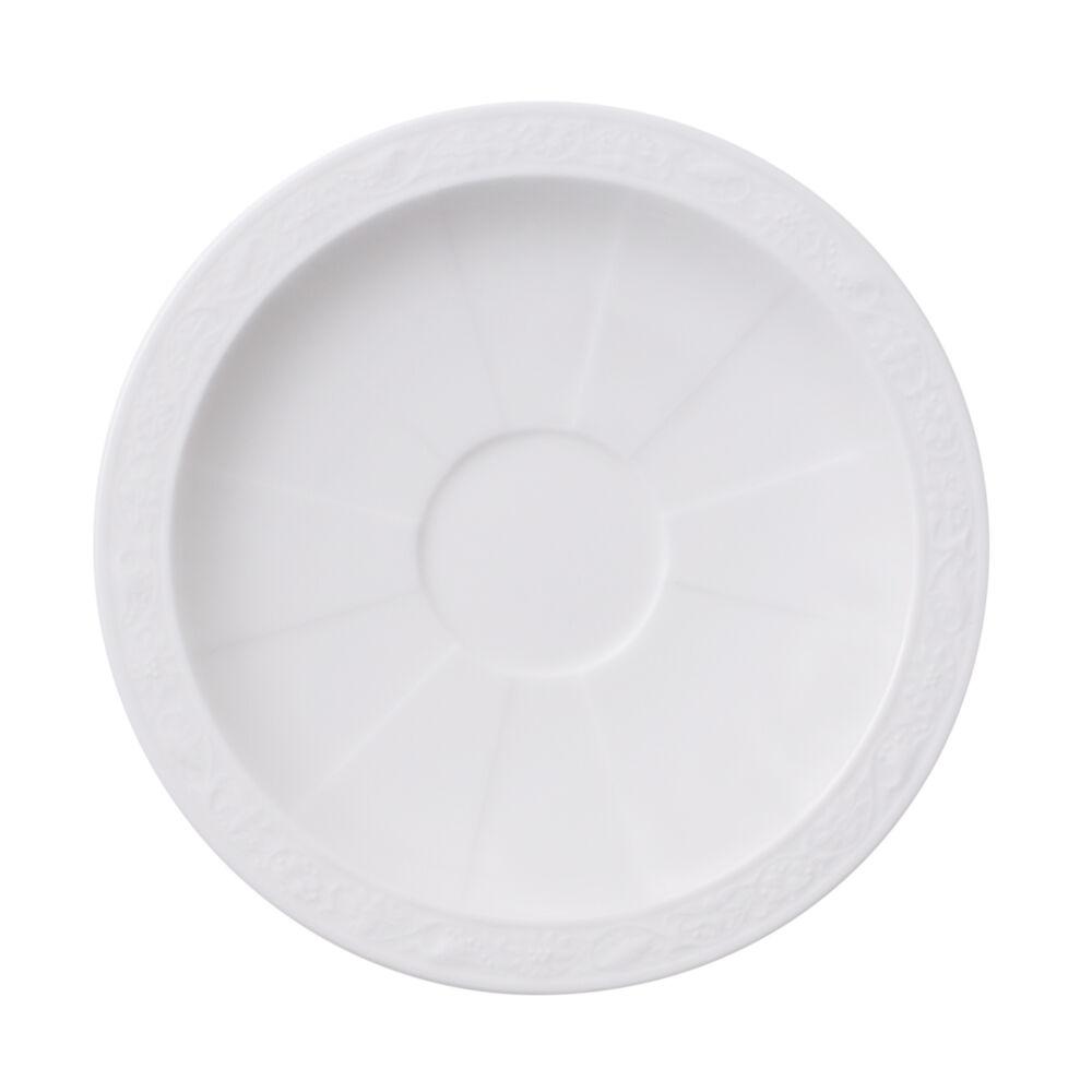 V&B White Pearl alátét eszpresszós csészéhez 13cm