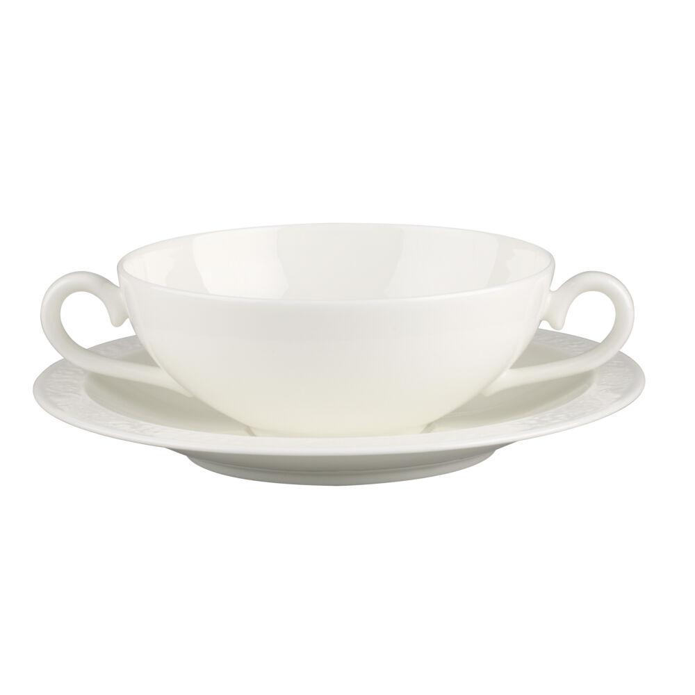 V&B White Pearl leveses csésze alátéttel