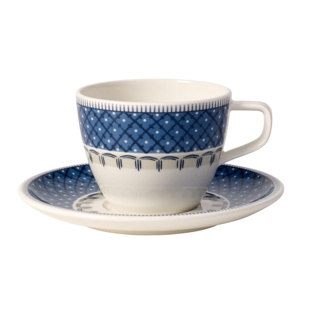 V&B Casale Blu kávés csésze alátéttel