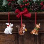 V&B Nostalgic Ornaments karácsonyfadísz szett 3részes, Erdei állatok