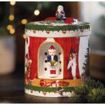 V&B Christmas Toys zenélő doboz kerek, Télapó ajándékoz