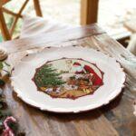 V&B Toy's Fantasy óriás süteményes tál, Télapó a karácsonyfánál